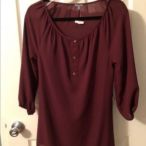 Brand New NWT Charlotte Russe red blouse XS